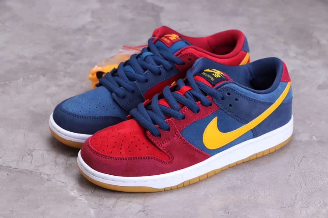 耐克SB Dunk红蓝鸳鸯巴塞罗那 Nike SB Dunk Low Barcelona 耐克鸳鸯低帮板鞋 货号:DJ0606-400-潮流者之家