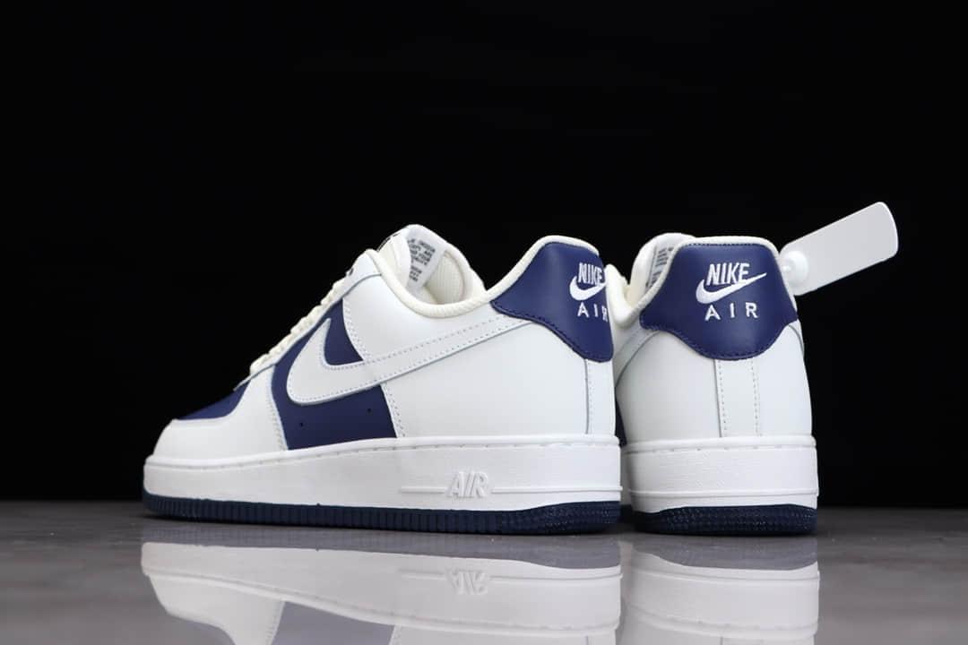 耐克空军一号深蓝拼接 Nike Air Force 1 耐克空军板鞋 耐克低帮板鞋 校园板鞋 货号:AL2236-103-潮流者之家