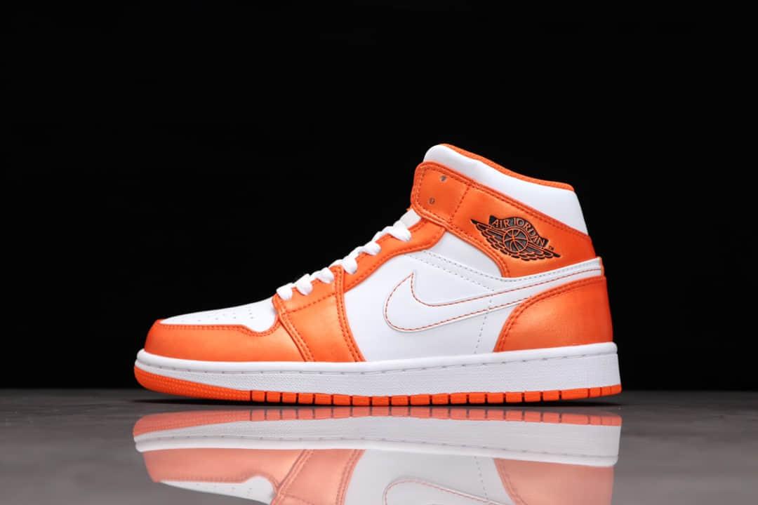 AJ1白橙小扣碎中帮纯原版本 Air Jordan 1 Mid 乔1莆田AJ复刻 货号:DM3531-800-潮流者之家