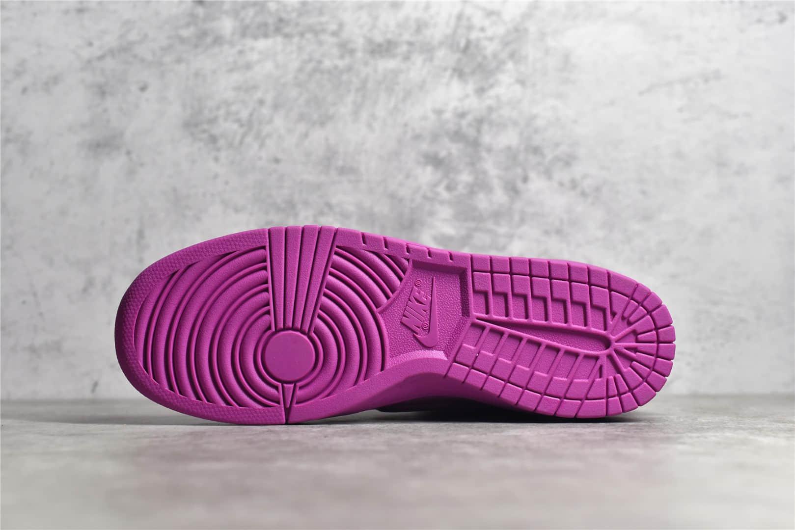 耐克Dunk AMBUSH联名款 AMBUSH x Nike Dunk High 耐克粉色高帮板鞋 货号:CU7544-600-潮流者之家