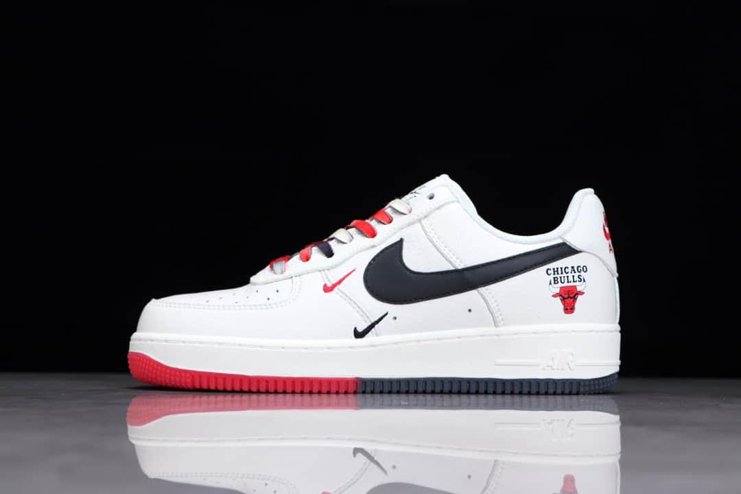 耐克空军米黑红低帮 耐克空军芝加哥公牛队 Nike Air Force 1 耐克空军城市限定 货号:CH2806-306-潮流者之家