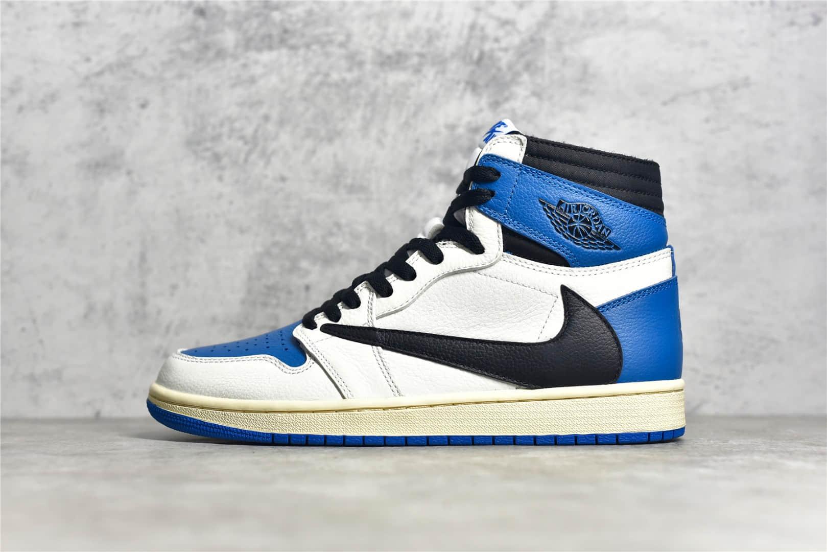 AJ1闪电倒钩高帮 Fragment × Nike Air Jordan 1 x Travis Scott AJ1藤原浩斯科特三方联名 货号:DH3327-105-潮流者之家
