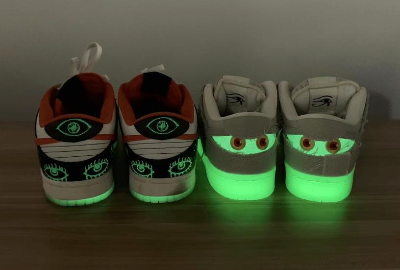"""耐克Dunk万圣节 耐克Dunk木乃伊 Nike SB Dunk Low """"Mummy"""" 耐克Dunk夜光低帮 货号:DM0774-111-潮流者之家"""
